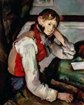 The Boy in the Red Waistcoat, 1888-90 Postcards, Greetings Cards, Art Prints, Canvas, Framed Pictures & Wall Art by Paul Cezanne