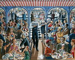 Cafe, 2005 Fine Art Print by Lincoln Seligman