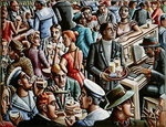 Piano Bar, 1998 Fine Art Print by Lincoln Seligman