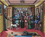 The Vet's Waiting Room Fine Art Print by Janet and Anne Johnstone