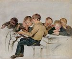 School Examination Poster Art Print by Jan the Elder Lievens