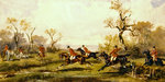 Hunting scene, c.1920 Wall Art & Canvas Prints by Liu Kuan-tao