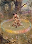 The Fairy Ring- the Enchanted Piper, c.1880 Fine Art Print by Fortune Louis Meaulle