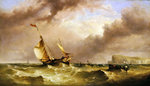 Shipping off the South Foreland, 1863 Fine Art Print by English School