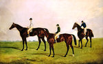 Racehorses Jockeys Up Fine Art Print by Henri de Toulouse-Lautrec