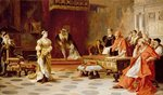 The Trial of Queen Katherine, c.1880 Fine Art Print by Joris Hoefnagel
