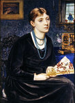 Portrait of Louise A. Baldwin, 1868 Postcards, Greetings Cards, Art Prints, Canvas, Framed Pictures, T-shirts & Wall Art by Sir Edward John Poynter