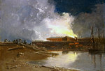 Bristol Burning, 1832 Wall Art & Canvas Prints by Pierre-Antoine Demachy