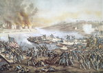 The Battle of Fredericksburg, 13th December 1862 Fine Art Print by Clive Uptton