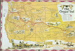 Map of the Old Oregon Trail Fine Art Print by American School