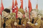 Hitler Youth Parade, Nazi Germany, 1933 Wall Art & Canvas Prints by German Photographer