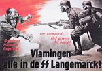 German Waffen SS recruitment poster published in Flanders, April 1944 Fine Art Print by German School