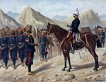Punjab Frontier Force No.1 Kohat Mountain Battery, the Anglo-Indian Army of the 1880s Fine Art Print by English School