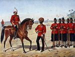 The Queen's Own Madras Sappers and Miners, Review Order, Anglo-Indian Army of the 1880s Fine Art Print by English School