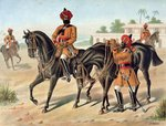 The 1st Bengal Cavalry, Review Order, Anglo-Indian Army of the 1880s Fine Art Print by Antoine Louis Francois Sergent-Marceau