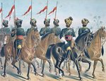 The 2ND Bombay Lancers, review order, Anglo-Indian Army of the 1880s Fine Art Print by English School