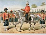 The 7th Bengal Infantry on Parade, the Anglo-Indian Army of the 1880s Fine Art Print by English School