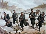 The 3rd Gurkhas Skirmishing, the Anglo-Indian Army of the 1880s Fine Art Print by English School