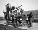 Dust bowl farmer moving his household goods, Hamilton County, Tennessee, 1936 Fine Art Print by Reverend Samuel Manning