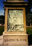 Detail of the monument to the victims of the Boston Massacre on Boston Common, 1888 Fine Art Print by American School