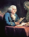 Benjamin Franklin, 1766 Fine Art Print by French School