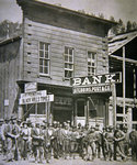 Gold Miners at Deadwood City, South Dakota, c.1877 Fine Art Print by Reverend Samuel Manning