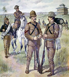 U.S. Army uniforms 1898-1900: Khaki field dress for enlisted men Fine Art Print by French School