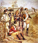 American Continental Army: Uniforms of independent company organizations of 1774-5 Fine Art Print by Paul Gauguin