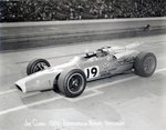 Jim Clark at the Indianapolis 500 Mile Race, 1966 Fine Art Print by French School