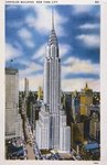 Postcard of the Chrysler Building, New York City, 1931 Fine Art Print by Charlotte Johnson Wahl