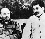 Lenin and Stalin Poster Art Print by Russian Photographer