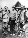 Ragged soldiers of the Bolshevik Army, 1917 Fine Art Print by Russian Photographer