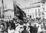 Raising the Red Flag in Petrograd, 1917 Fine Art Print by Russian Photographer