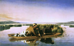 Duck Hunters on the Hoboken Marshes, New Jersey, 1849 Wall Art & Canvas Prints by Thomas Moran