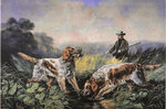 American Field Sports: Retrieving, 1857 Wall Art & Canvas Prints by Thomas Moran