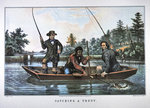 Catching a Trout, published by N. Currier, 1854 Fine Art Print by Johan-Barthold Jongkind