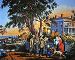 American Country Life: Bringing Home the Game, 1855 Fine Art Print by William Snr. Shayer