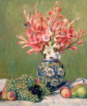 Still life of Fruits and Flowers, 1889 Poster Art Print by Claude Monet