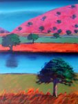 Pink Hill 2 Wall Art & Canvas Prints by Paul Powis