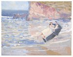 Lovers by the Sea Postcards, Greetings Cards, Art Prints, Canvas, Framed Pictures, T-shirts & Wall Art by Mary Stuart