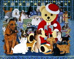 Happy Christmas Wall Art & Canvas Prints by Pat Scott