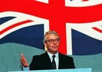 Prime Minister John Major speaking at the Conservative Party Conference in Blackpool, 8th October 1993 Fine Art Print by Anonymous