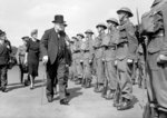 Winston Churchill inspects Home Guard personnel in Hyde Park, London, 14th July 1941 Wall Art & Canvas Prints by English Photographer