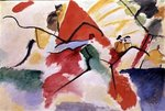 Improvisation No. 5, 1911 (oil on canvas) Postcards, Greetings Cards, Art Prints, Canvas, Framed Pictures, T-shirts & Wall Art by August Macke