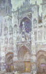 Rouen Cathedral, the west portal, dull weather, 1894 Fine Art Print by Claude Monet