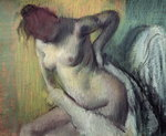 Woman drying herself Postcards, Greetings Cards, Art Prints, Canvas, Framed Pictures, T-shirts & Wall Art by Pierre Auguste Renoir