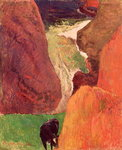 At the Bottom of the Gulf, 1888 Wall Art & Canvas Prints by Paul Gauguin