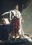 Portrait of Napoleon I in his Coronation Robes, 1804 Poster Art Print by Allan Ramsay