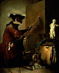 The Monkey Painter, 1740 Wall Art & Canvas Prints by Anne Vallayer-Coster