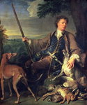 Self Portrait as a Hunter, 1699 Fine Art Print by Philip Reinagle
